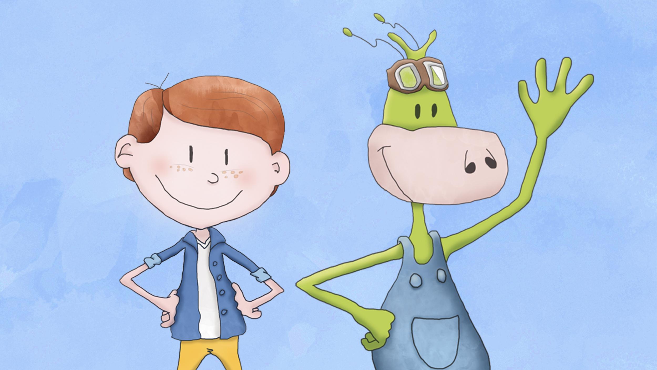 Karakters Sam (l) & Piepie (r)