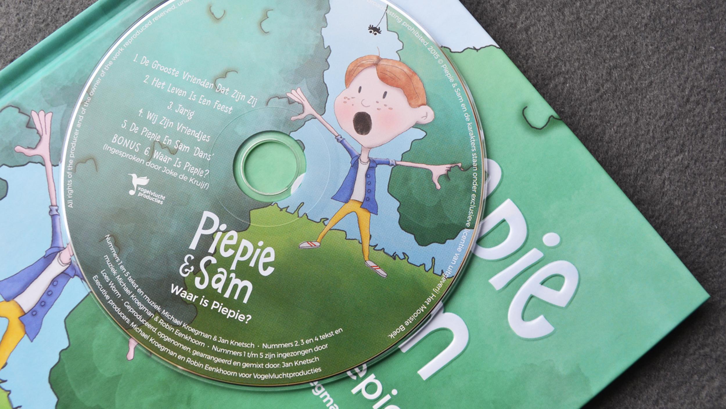 CD met leuke meezing-liedjes hoort bij boekje 1