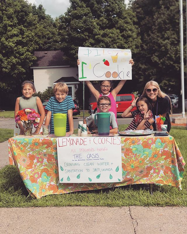 A couple teachers who knew what we were doing told their students about bringing the OASIS to Uganda.....the kids' response? ⠀⠀⠀⠀⠀⠀⠀⠀⠀ A lemonade stand...and donating all the proceeds to JustCause!!! Too cool.