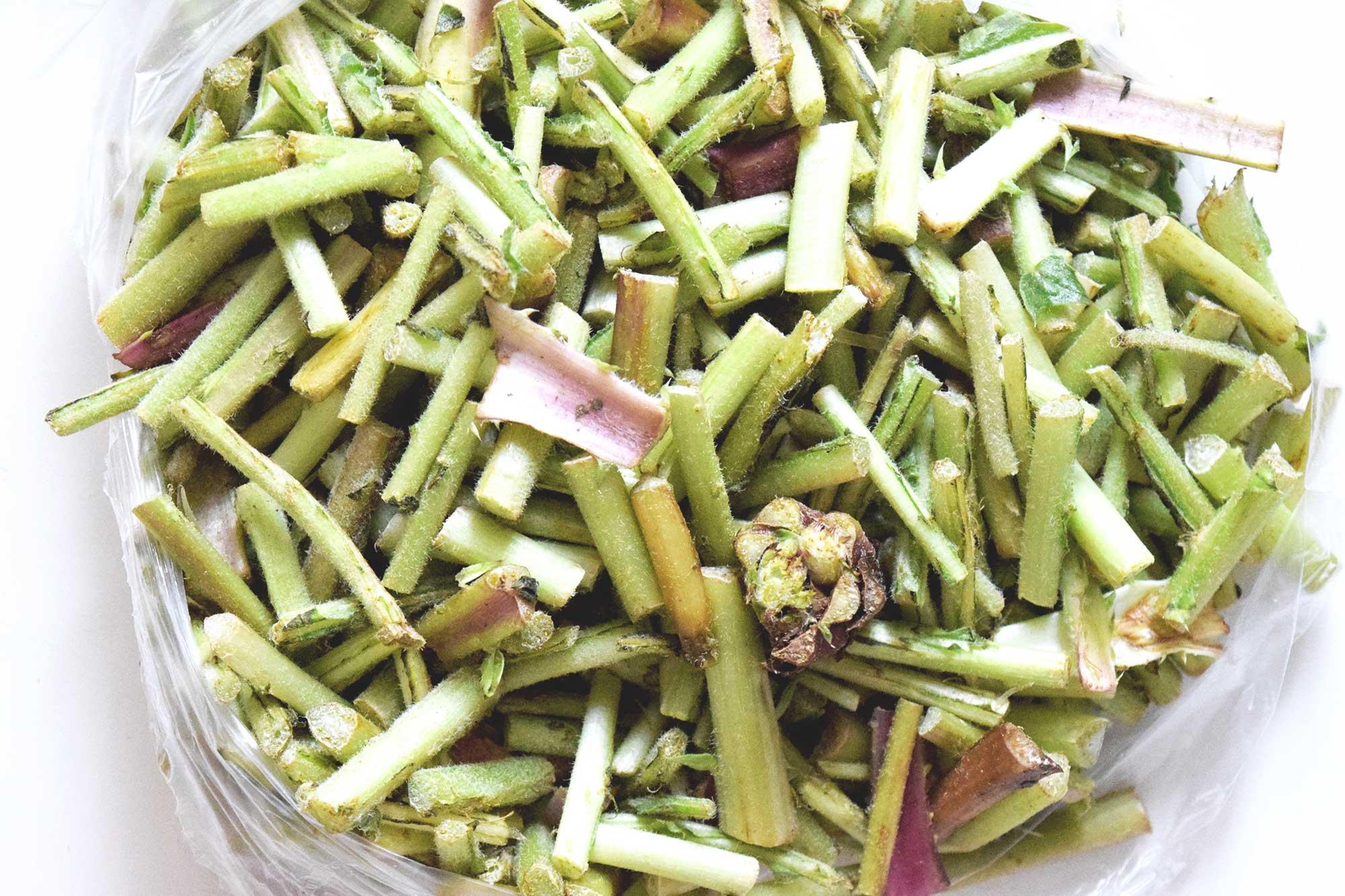 Tagarninas vegetable from Cadiz