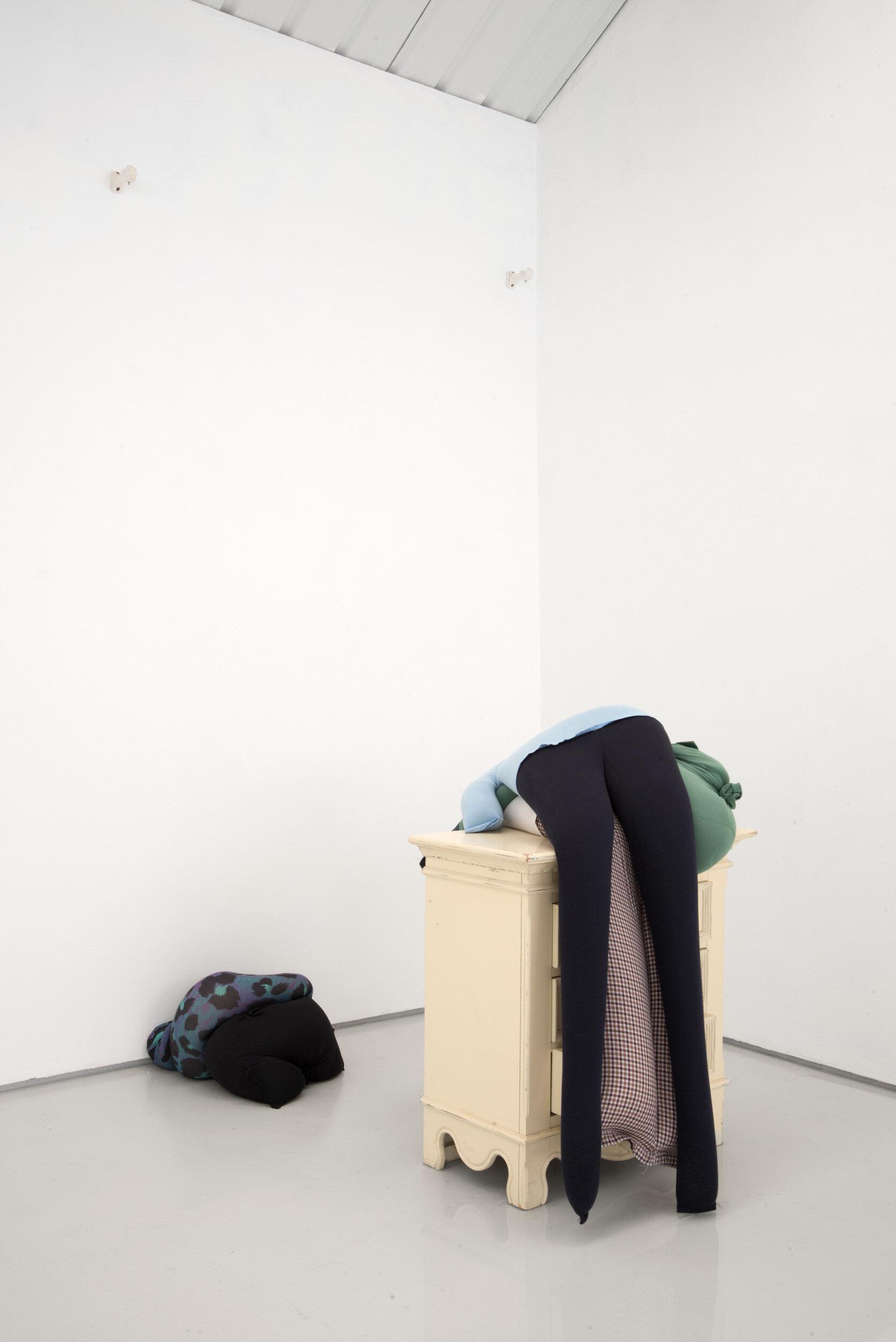 Fall, slump, drop on a bedside cabinet in water[...], Installation View, Alex Farrar, Bloc Projects, 2019, 7.jpg