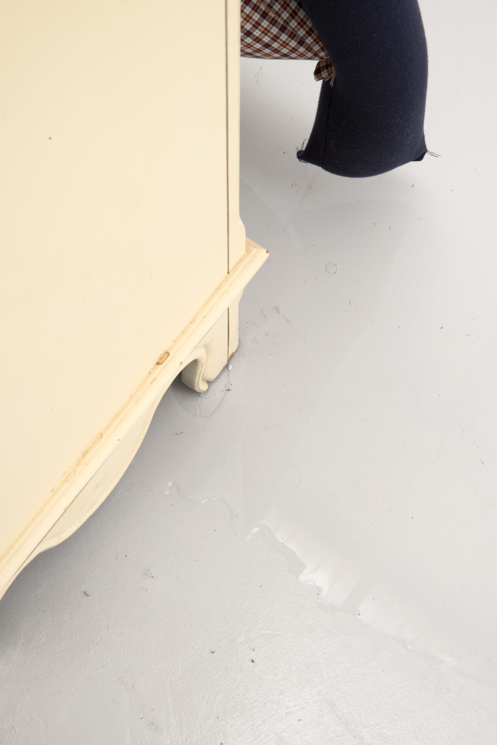 Dip, crash, flat on a chest of drawers partially in water, Alex Farrar, Bloc Projects, 2019, 3.jpg