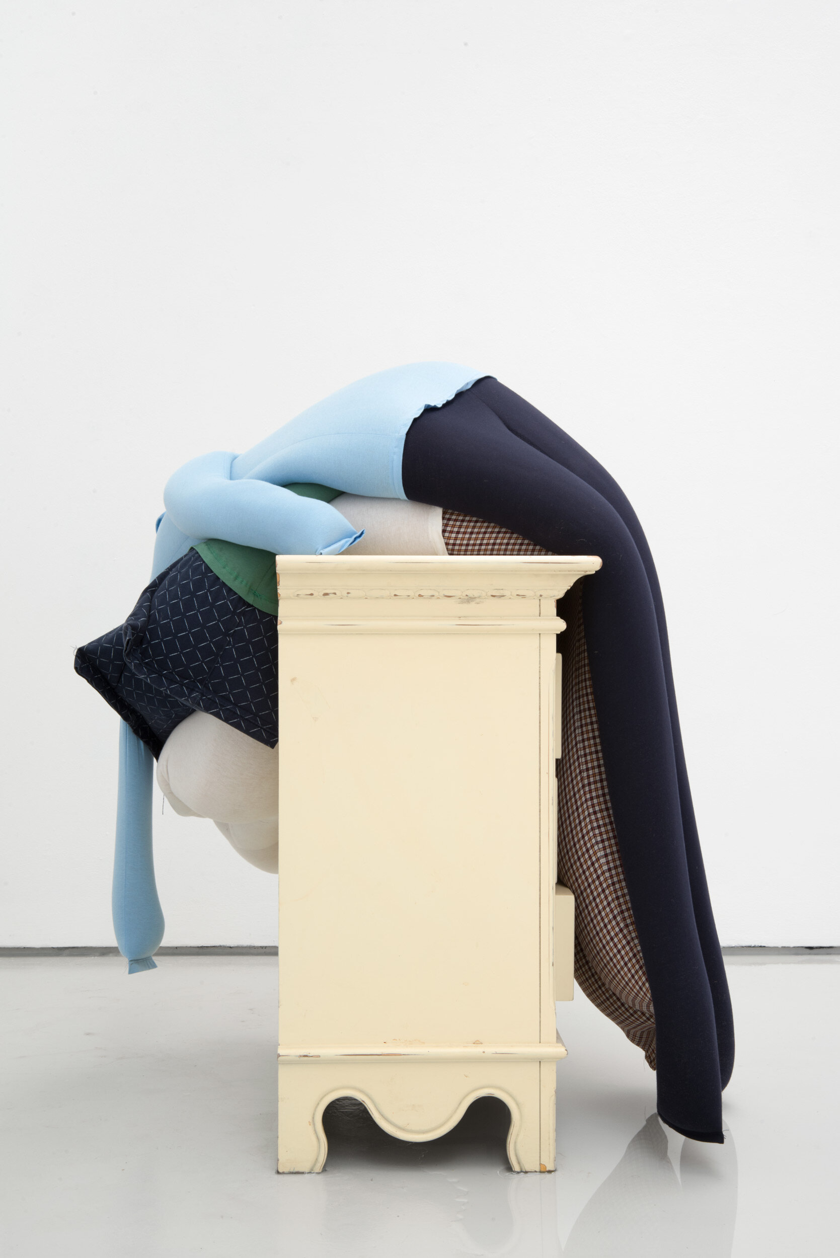 Dip, crash, flat on a chest of drawers partially in water, Alex Farrar, Bloc Projects, 2019, 1.jpg