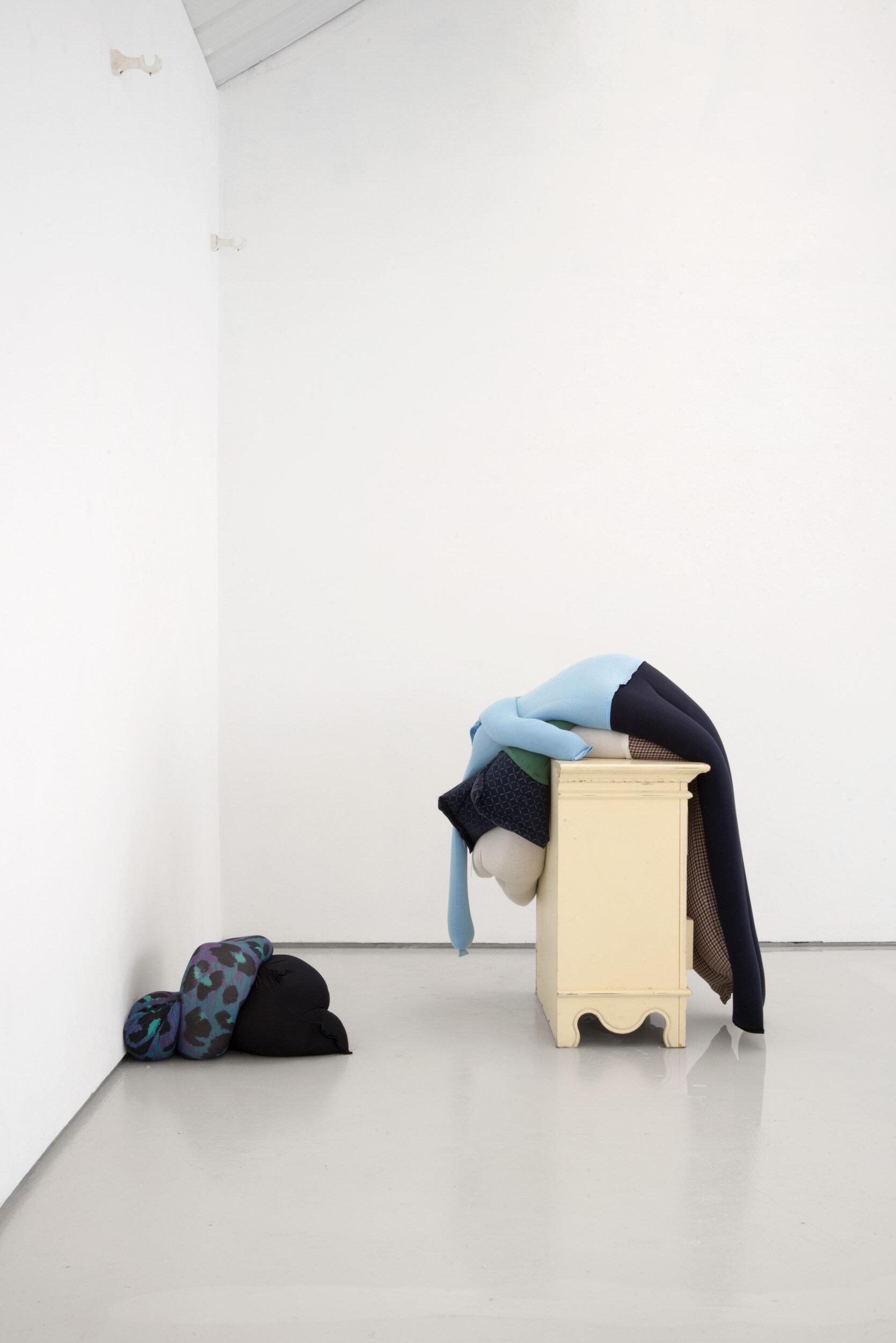 Fall, slump, drop on a bedside cabinet in water[...], Installation View, Alex Farrar, Bloc Projects, 2019, 8.jpg