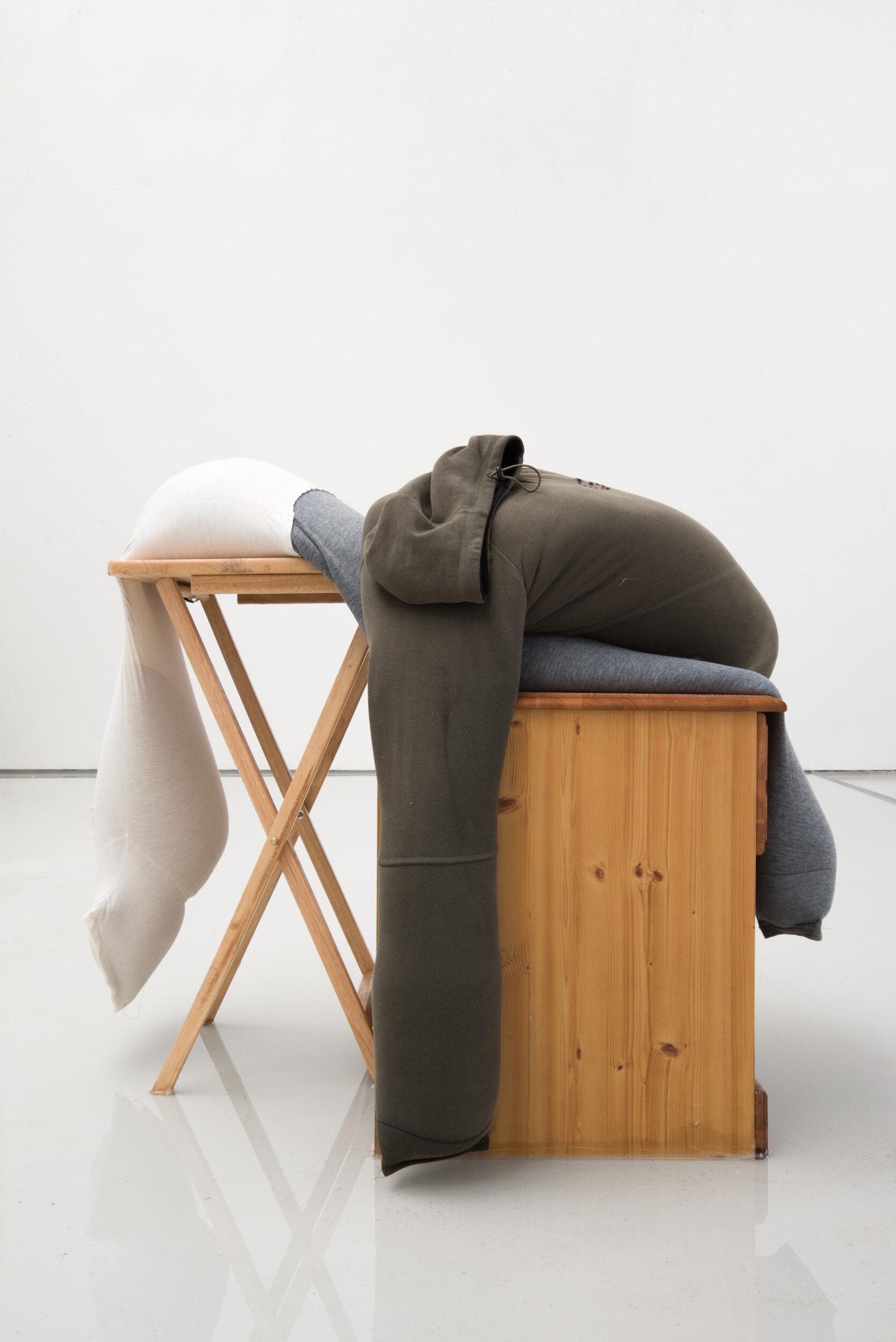 Sag on a folding table, slip on a bedside cabinet in water, Alex Farrar, Bloc Projects, 2019, 1.jpg