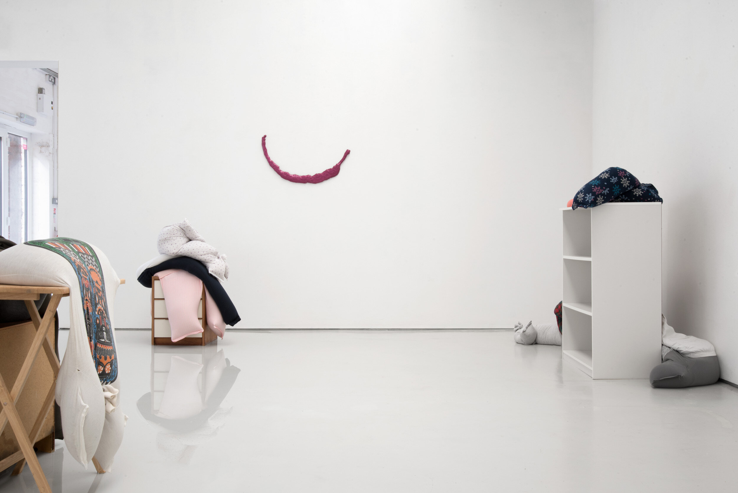 Fall, slump, drop on a bedside cabinet in water[...], Installation View, Alex Farrar, Bloc Projects, 2019, 5.jpg
