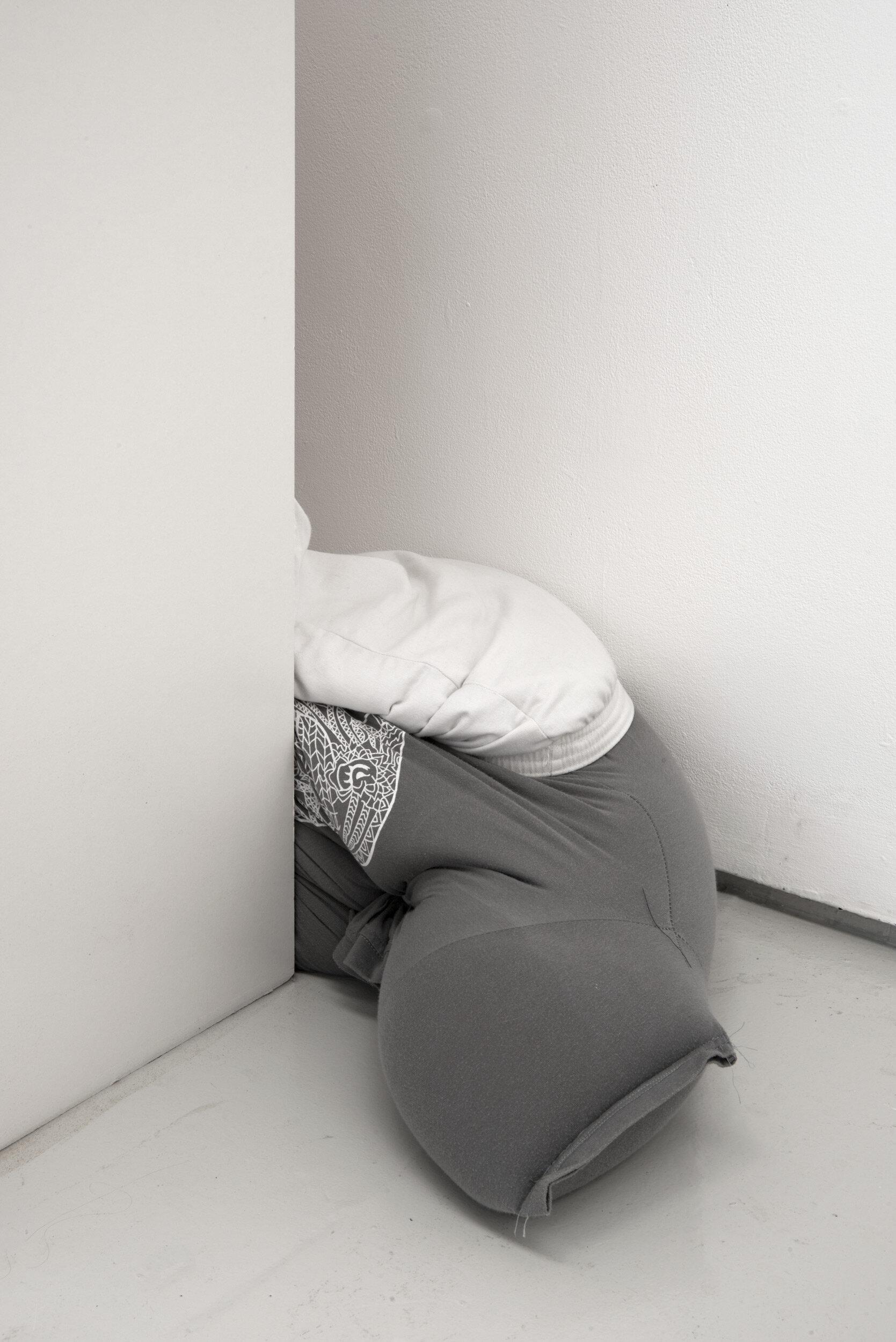 Collapse, slide, bottom-out beside low on a bookshelf, Alex Farrar, Bloc Projects, 2019, 4.jpg