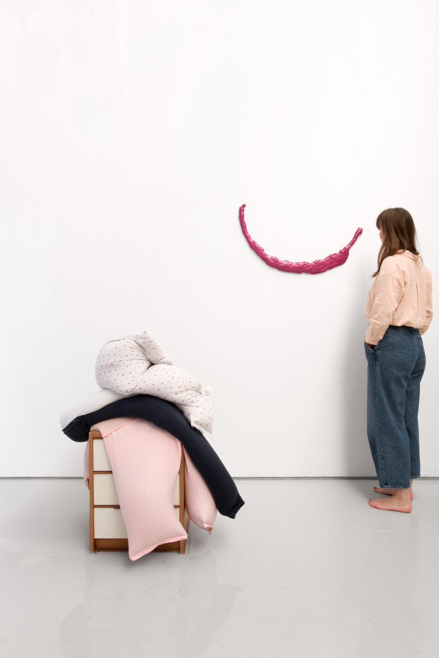 Fall, slump, drop on a bedside cabinet in water[...], Installation View, Alex Farrar, Bloc Projects, 2019, 3.jpg