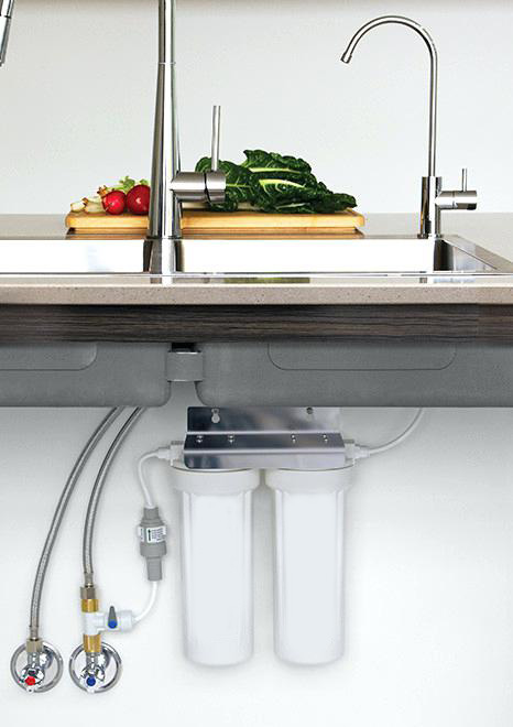 Under the sink filter systems