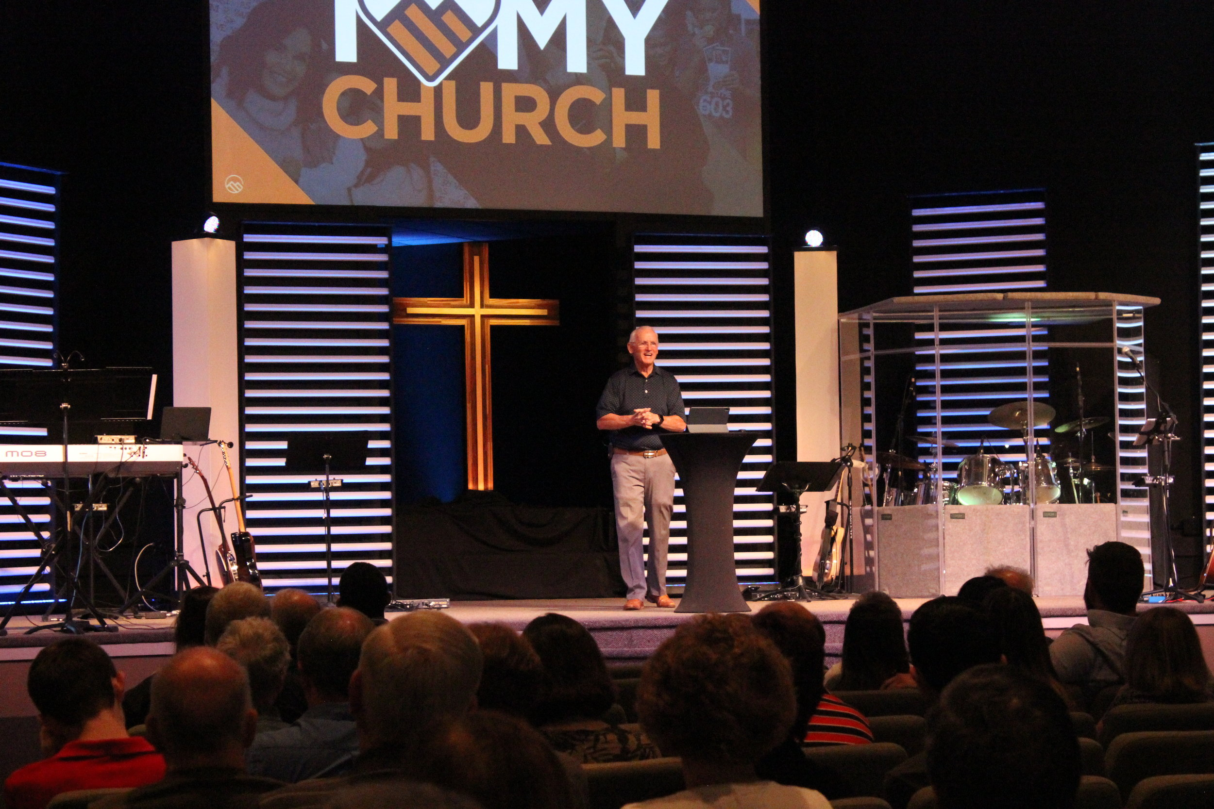 1. Attend a Service - Tower Hill Church is an exciting, up-lifting, life-giving, place for the entire family. With a welcoming atmosphere, it is easy for anyone to jump on board. With a live band leading us in worship and a challenging Jesus-centered message, everyone walks out feeling encouraged. The entire service lasts around 1 hour and 30 minutes.