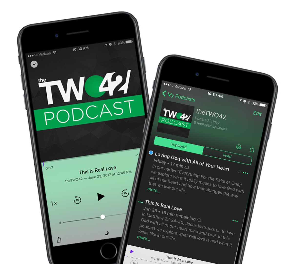 theTWO42 Podcast - Everybody needs encouragement. Check out past messages or catch up on listening and get inspired! If you would like to subscribe on an android device click HERE. To subcribe on iTunes click the button below.