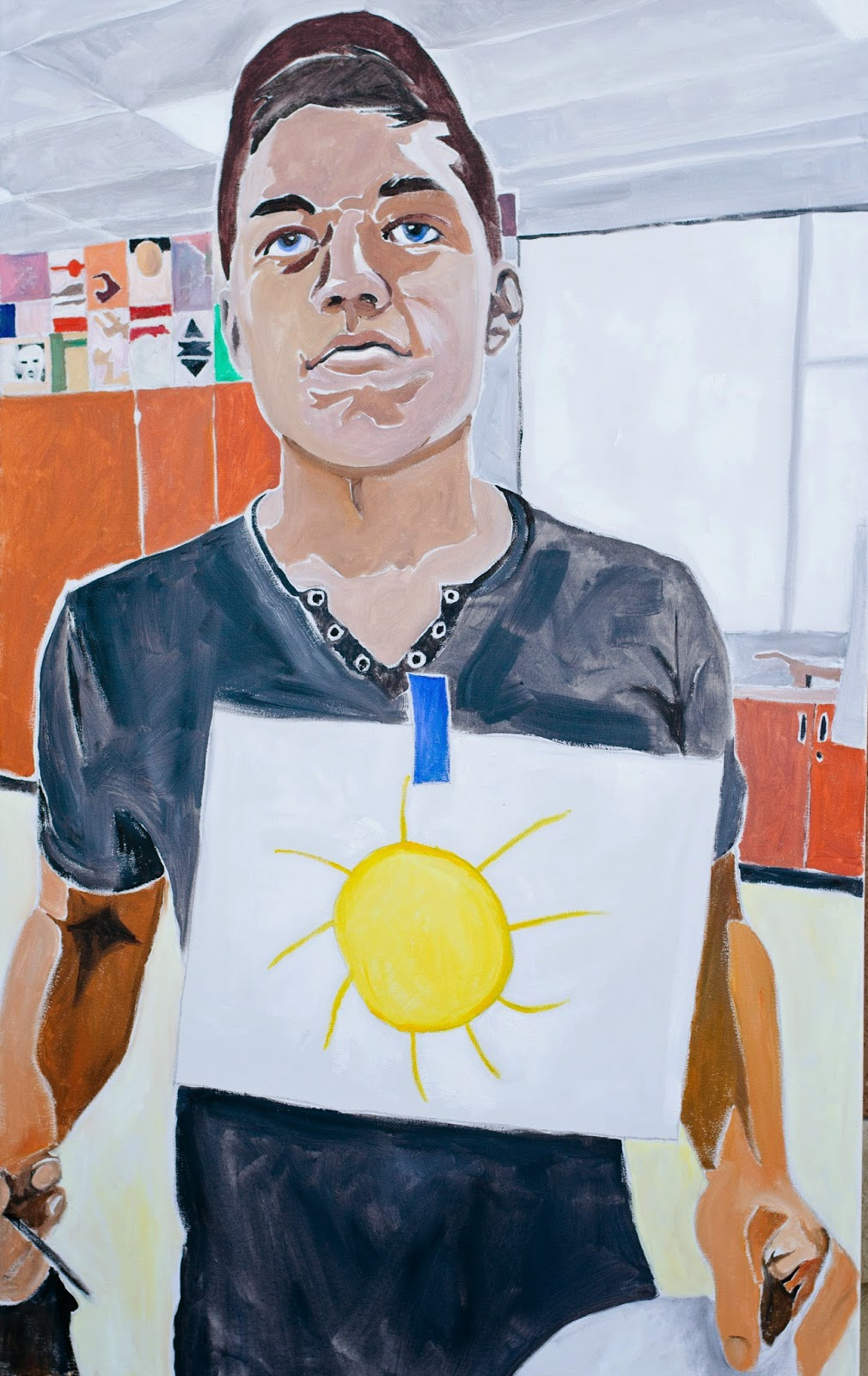 "Become someone's sunshine. Oil on canvas, 48""x 30"""