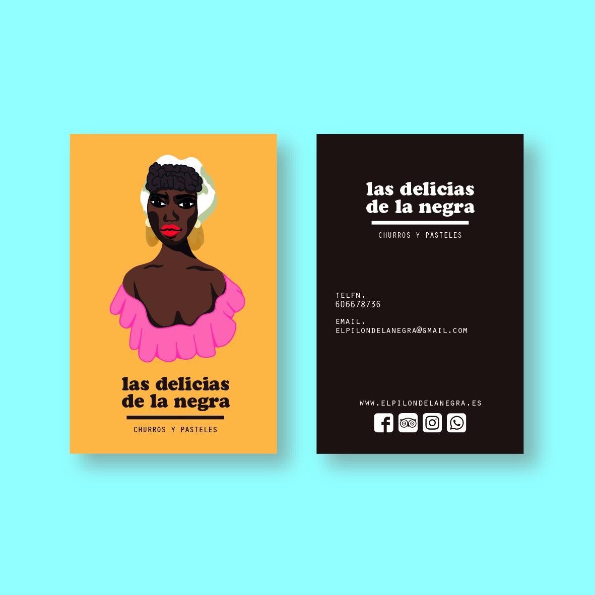 Las delicias de la negra_tarjeta visita