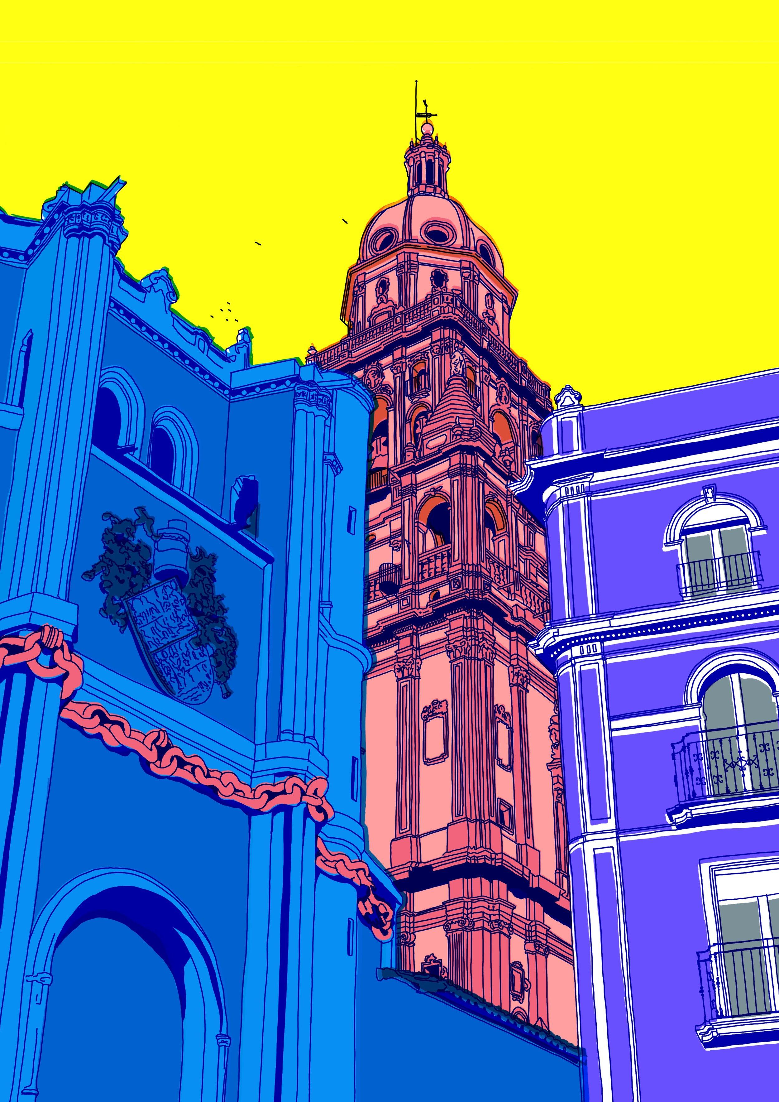 catedral Murcia desde Apostoles