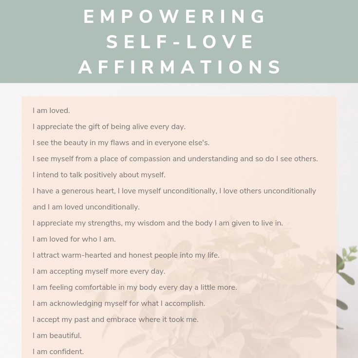 empowering affirmations self love
