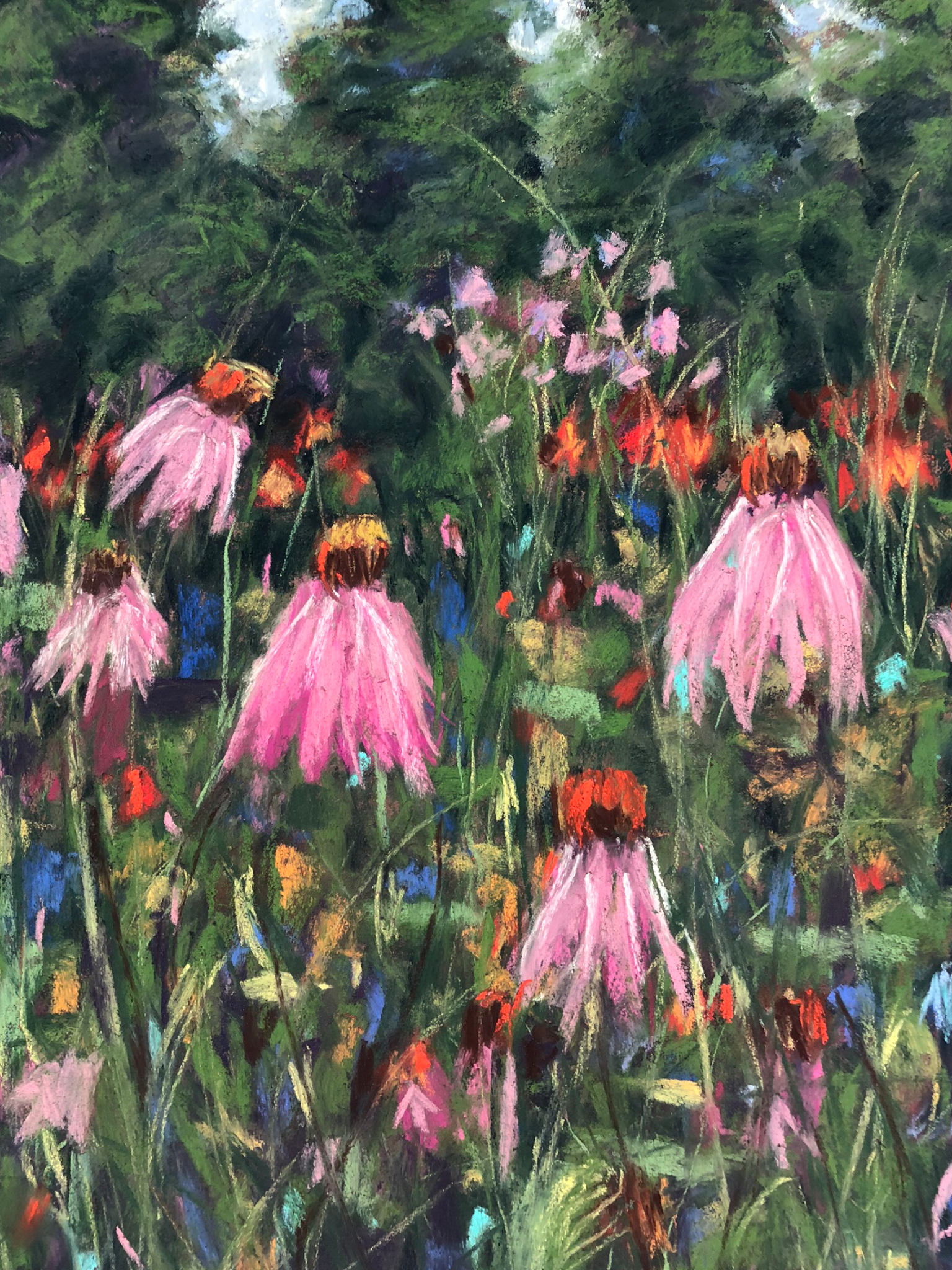 Floral Heaven - NEWMedium/Materials used: Soft Pastels on Canson Mi-Teintes paper.Measurements (framed): 48cm x 36cmMeasurements (Unframed): 42cm x 30cm