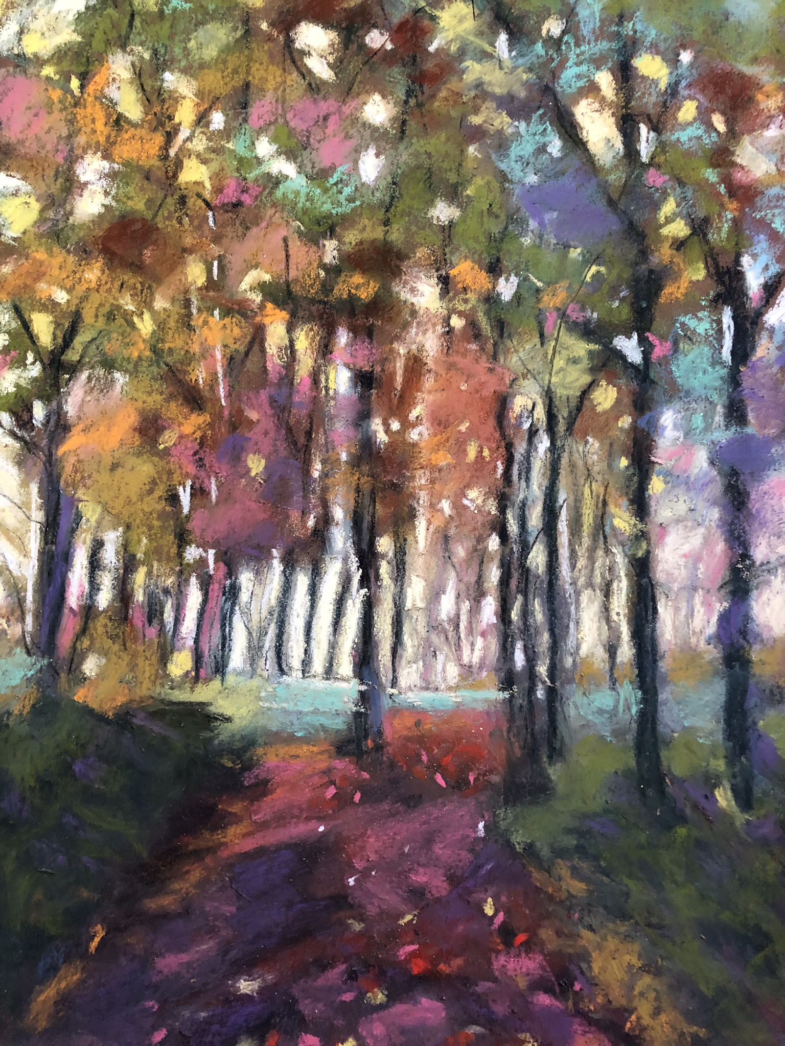 Autumn Jewel - NEWMedium/Materials used: Soft Pastels on Canson Mi-Teintes paper.Measurements (framed): 48cm x 36cmMeasurements (Unframed): 42cm x 30cm