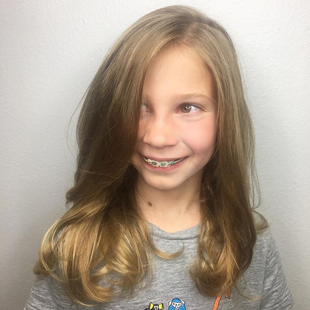 Styling this cuties hair for a night on the town! Who says you can't be 9 and get Blowouts! 😉