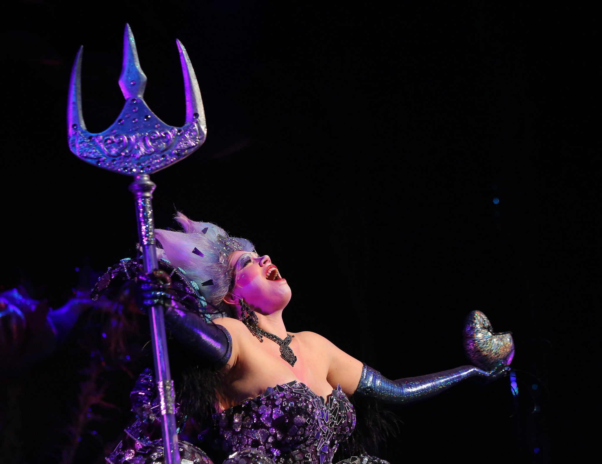 """""""The glittery embodiment of fantastical wickedness""""- Little Rock Soiree - Ursula in The Little Mermaid at Arkansas Repertory Theatre"""