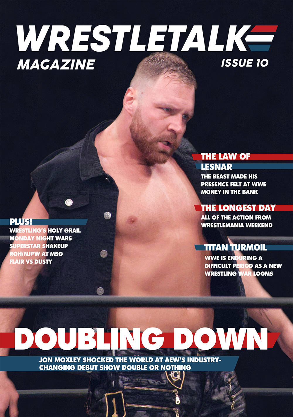 The front cover of Issue 10 of WrestleTalk Magazine, available from www.wrestletalk.com