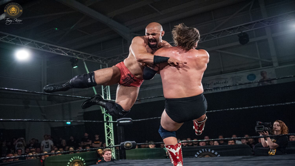 The first episode of WrestleTalk Showcase features Rampage Brown in action.