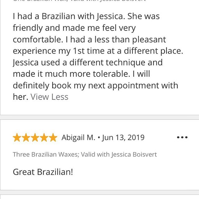 Wax queen is still hitting all 5 star reviews! #brazilianwax #bikiniwax #waxing