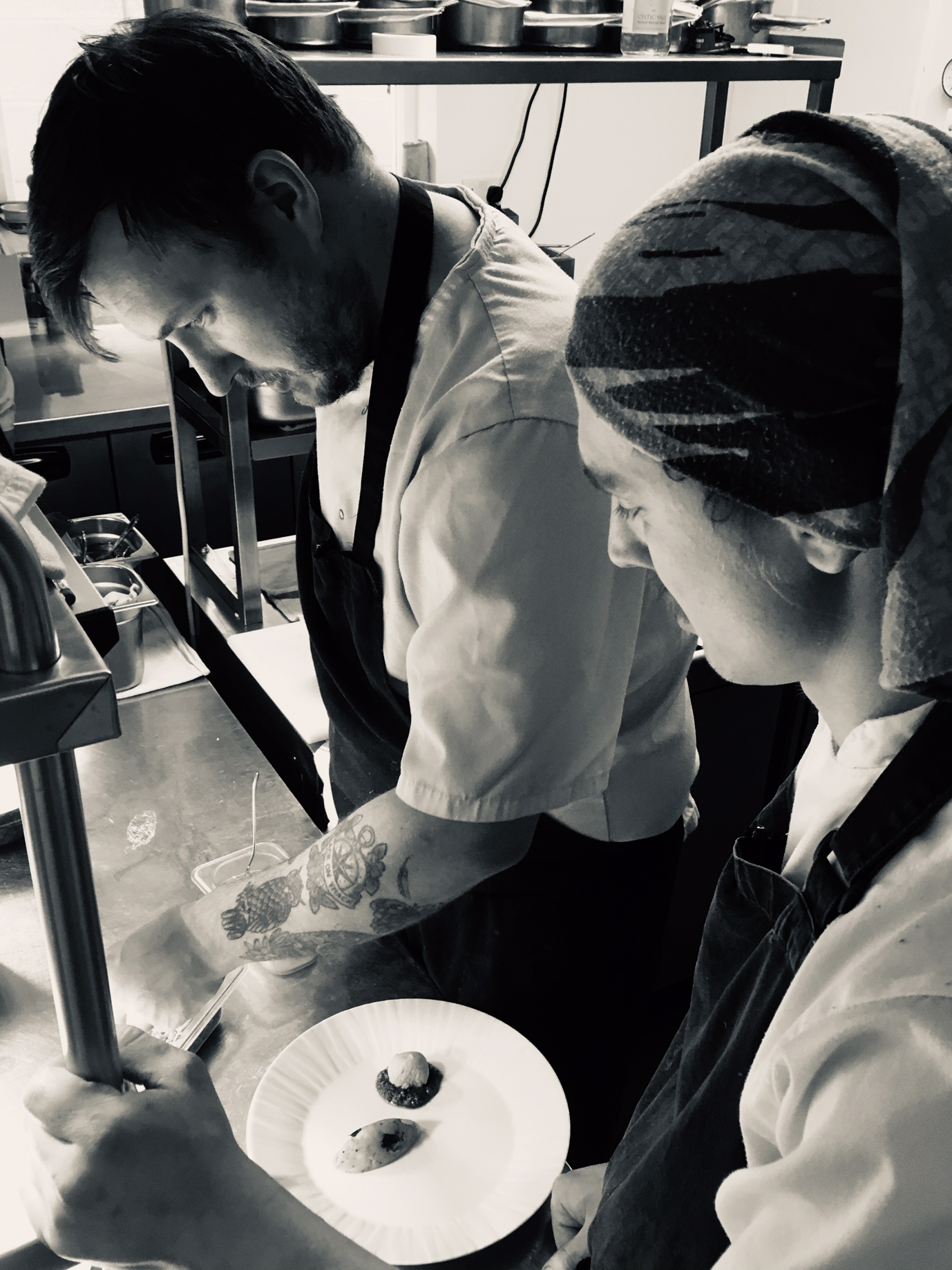 THe Kitchen Team - Dan's hand picked team are passionate, skilled and enthusiastic about food.Sandro, the Sous Chef, has trained from a young age at his dads restaurant. His love for food (especially Indian cuisine) shines through in some of our dishes.Shea ……..