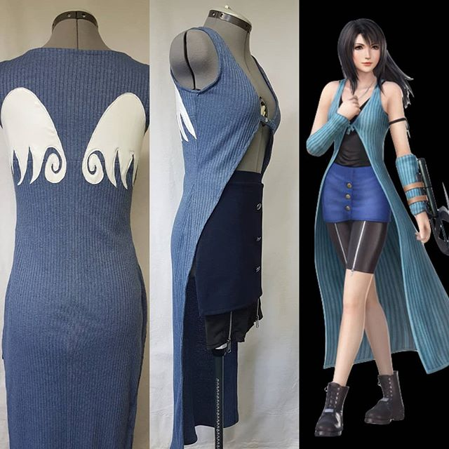 I couldn't help sharing some more photo's of this Rinoa Heartily #costumecommission 😻  The star of this cosplay is definitely the duster, but every single piece gets the same focus and care!