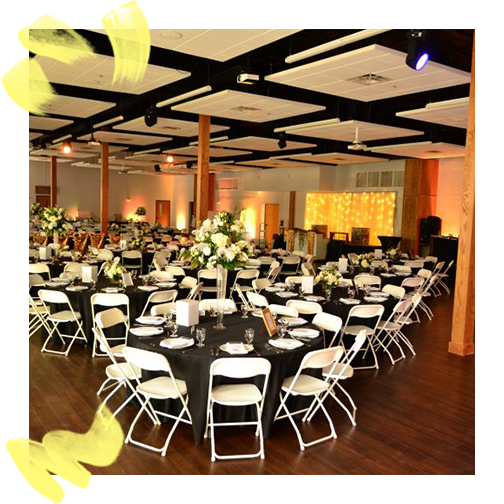 Genworth Education Center - Looking for a large venue that allows you to create a one-of-a-kind event? Rent Amazement Square's NEW Education Center! This venue is ideal for groups wishing to host a wedding reception, reunion, retreat, concert, or party. Comfortably hold a formal, sit-down dinner with a stage, dance area and bar, or utilize the great open space for a concert or dance.The Genworth Education Center is extremely flexible to fit the needs of your event. Design your layout, be creative with decorations, and hire the caterer, band, or DJ of your choice.Pricing: $300.00 per hour / Minimum of 2 hoursAll Day/Multi Day Packages available starting at $2,500