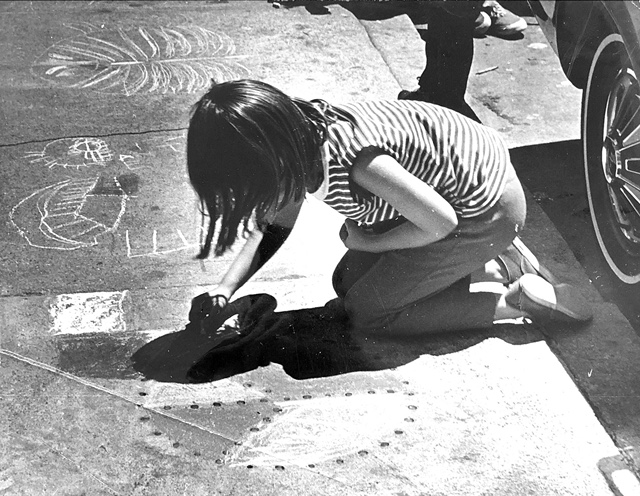 NB Festival History - Children Drawing with Chalk 02.JPG