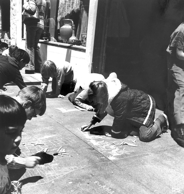 NB Festival History - Children Drawing with Chalk 01.JPG