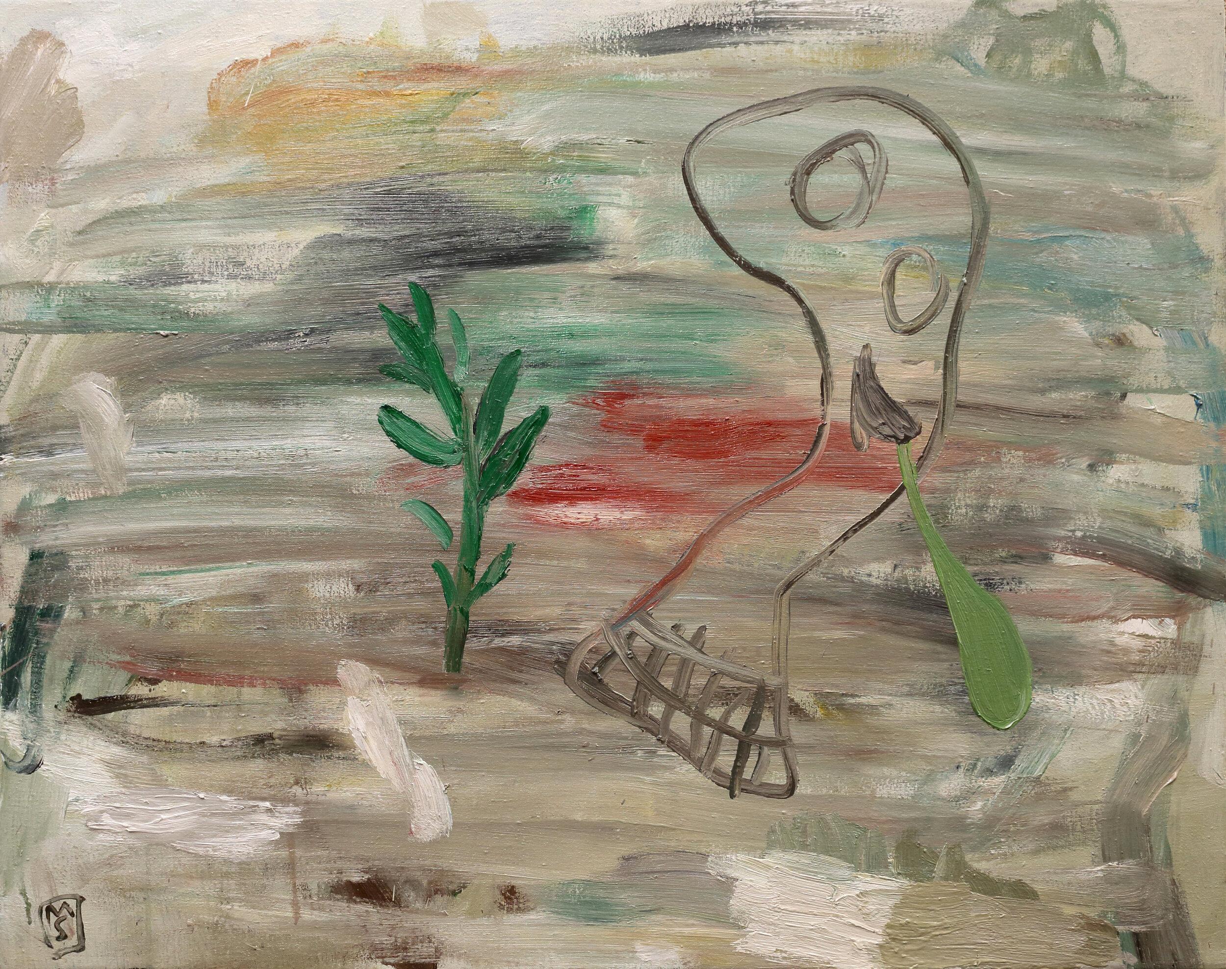 2019. EL FILÓSOFO.  Óleo sobre lino. 73 X 92 cm. Precio 3.300 € (más IVA).JPG