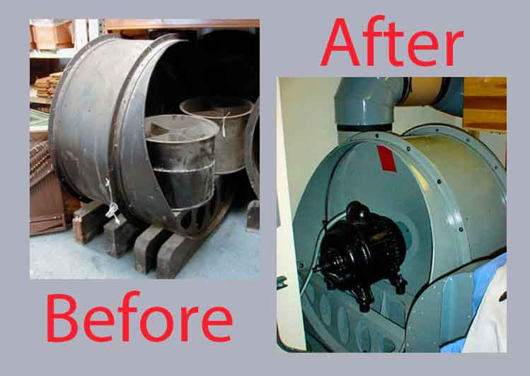 Spencer Organ Company Blower Overhaul and Rebuild