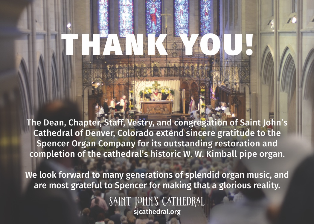 St. Johns Cathedral Thank You