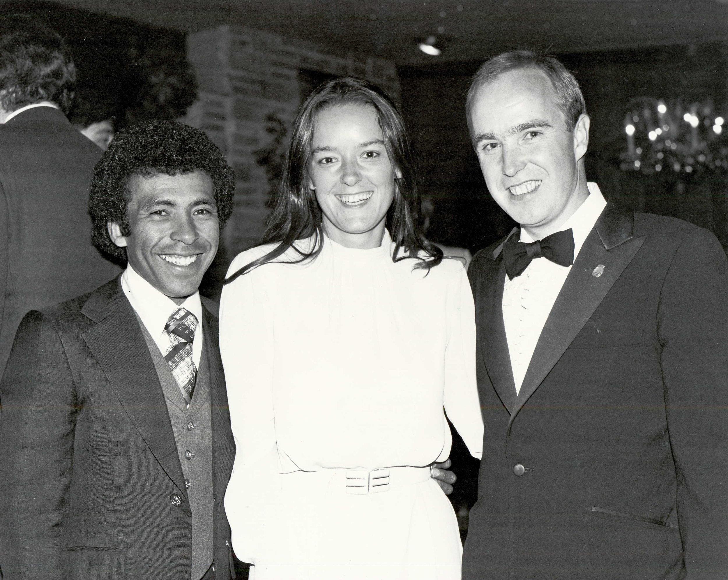 Angel Cordero, Janis Maine and Reade in 1977