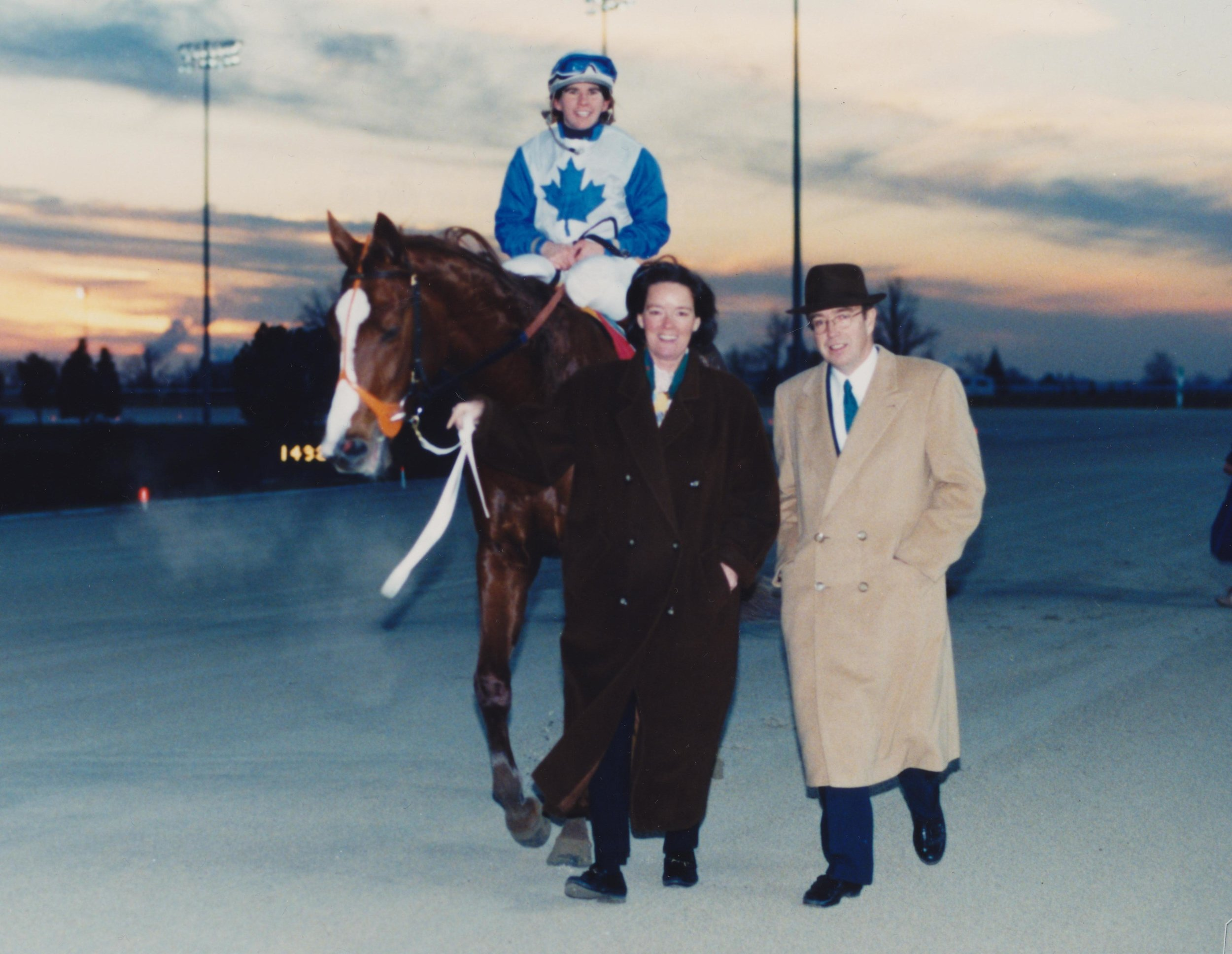 Reade and Janis, 1997 with homebred, Wait for Silence under jockey Laurie Gulas