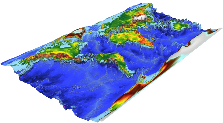 Bathymetry Map Click Here - Bathymetry is the study of underwater depth of lake or ocean floors. In other words, bathymetry is the underwater equivalent to hypsometry or topography. Bathymetric (or hydrographic) charts are typically produced to support safety of surface or sub-surface navigation, and usually show seafloor relief or terrain as contour lines (called depth contours or isobaths) and selected depths (soundings), and typically also provide surface navigational information. Bathymetric maps (a more general term where navigational safety is not a concern) may also use a Digital Terrain Model and artificial illumination techniques to illustrate the depths being portrayed.