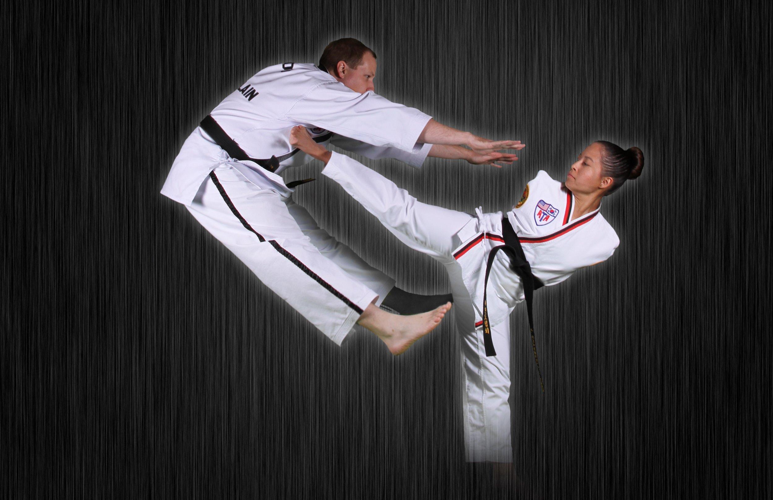 Patrick and Jessica Cox Taekwondo.jpg