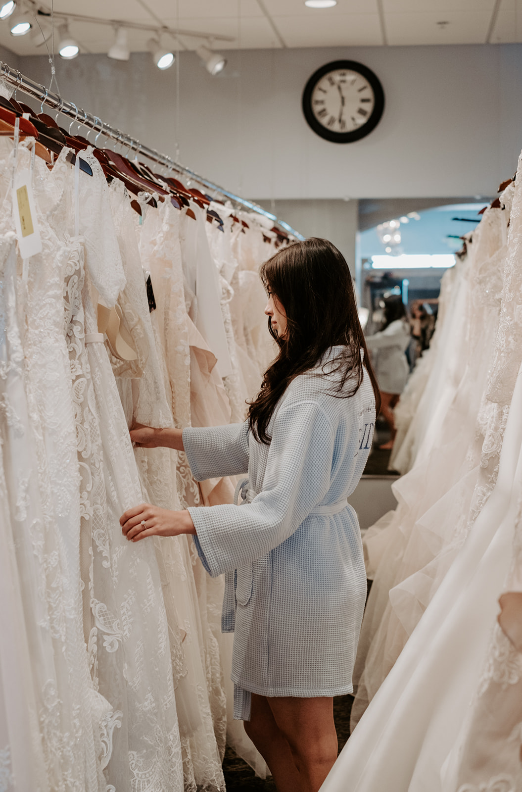 "Picking out one dress from each ""shape"" row- Photo Credit Alyssa Reinhold"