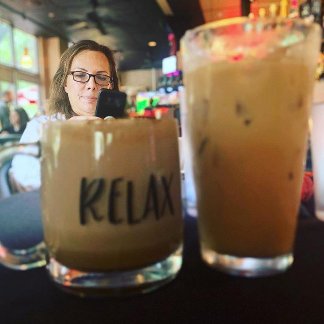Coffee with tia #addison #addisoncircle #addisontx #coffee #coffeeshop #relax #caramel #tialupita #familytime #family@astoriacaffe_winebar