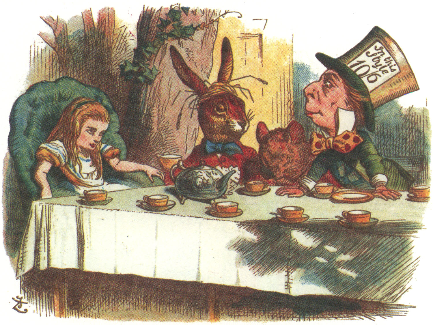 "From  The Nursery ""Alice""  , illustration by John Tenniel (Macmillan 1889). Public Domain"