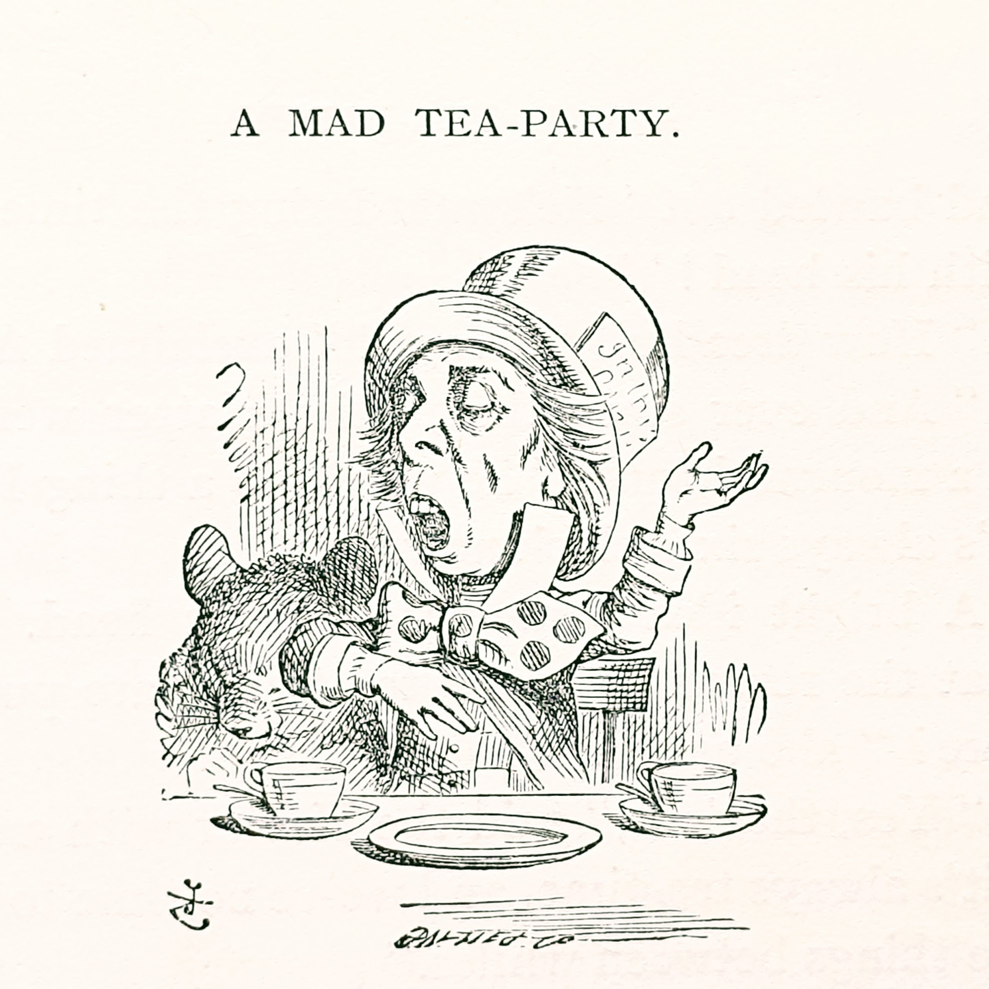From  Alice's Adventures in Wonderland . Illustration (1865) by John Tenniel - Public Domain
