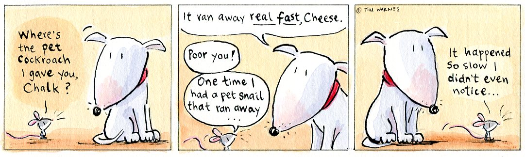 Escapees  from Chalk & Cheese Comics © 2011 by Tim Warnes