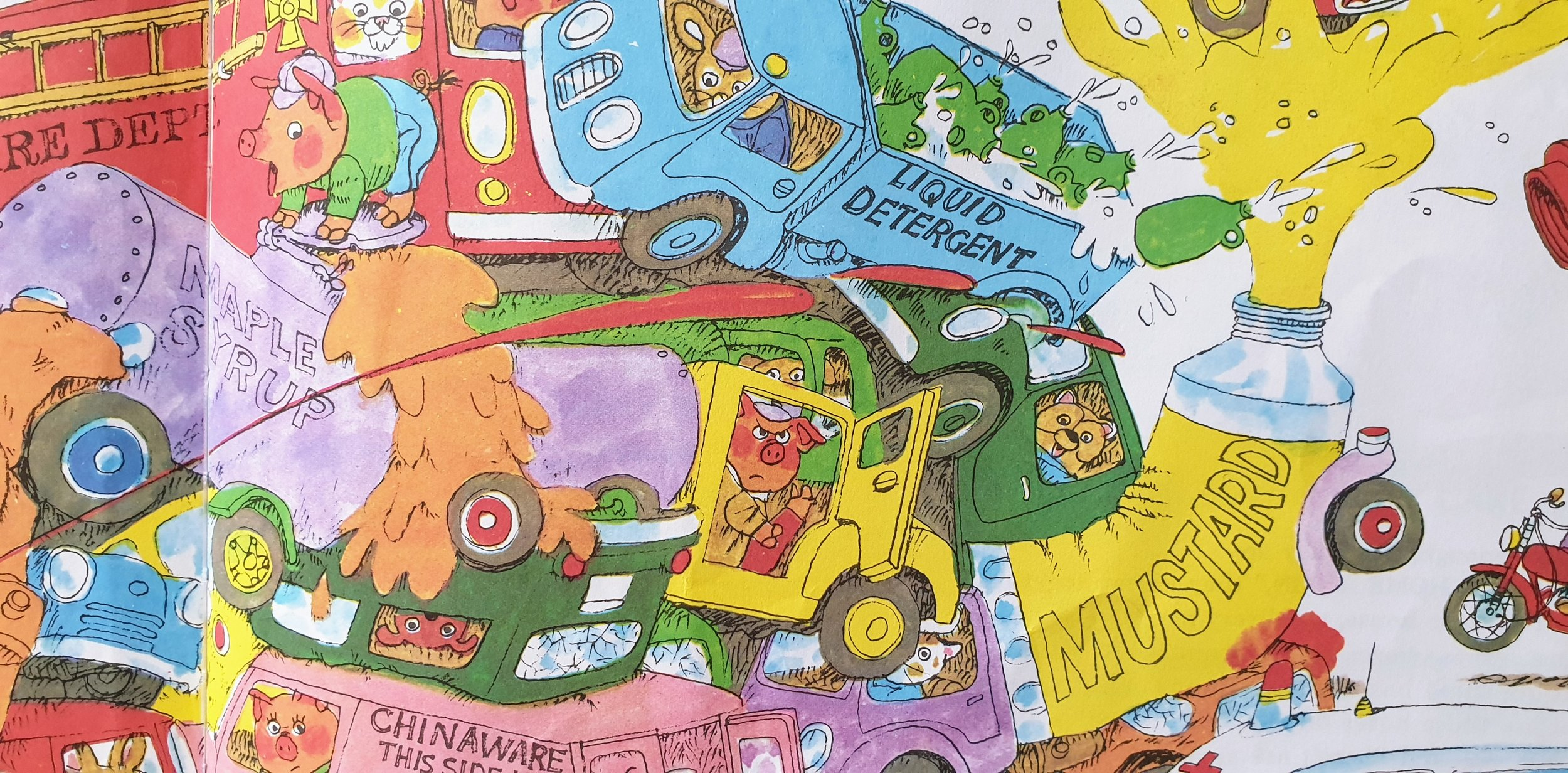 Detail from  Cars and Trucks and Things That Go  © 1974 Richard Scarry Corporation