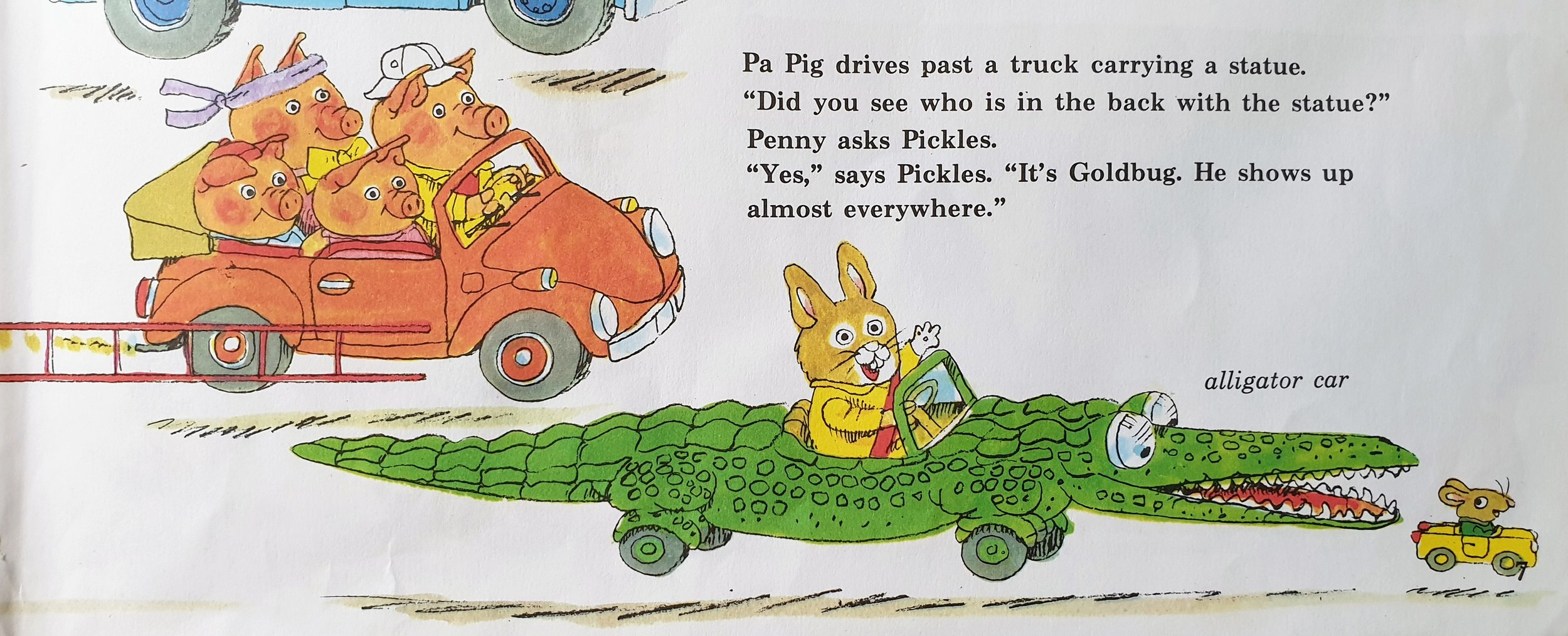 Detail from  Cars and Trucks and Things That Go  © 1974 by Richard Scarry Corporation