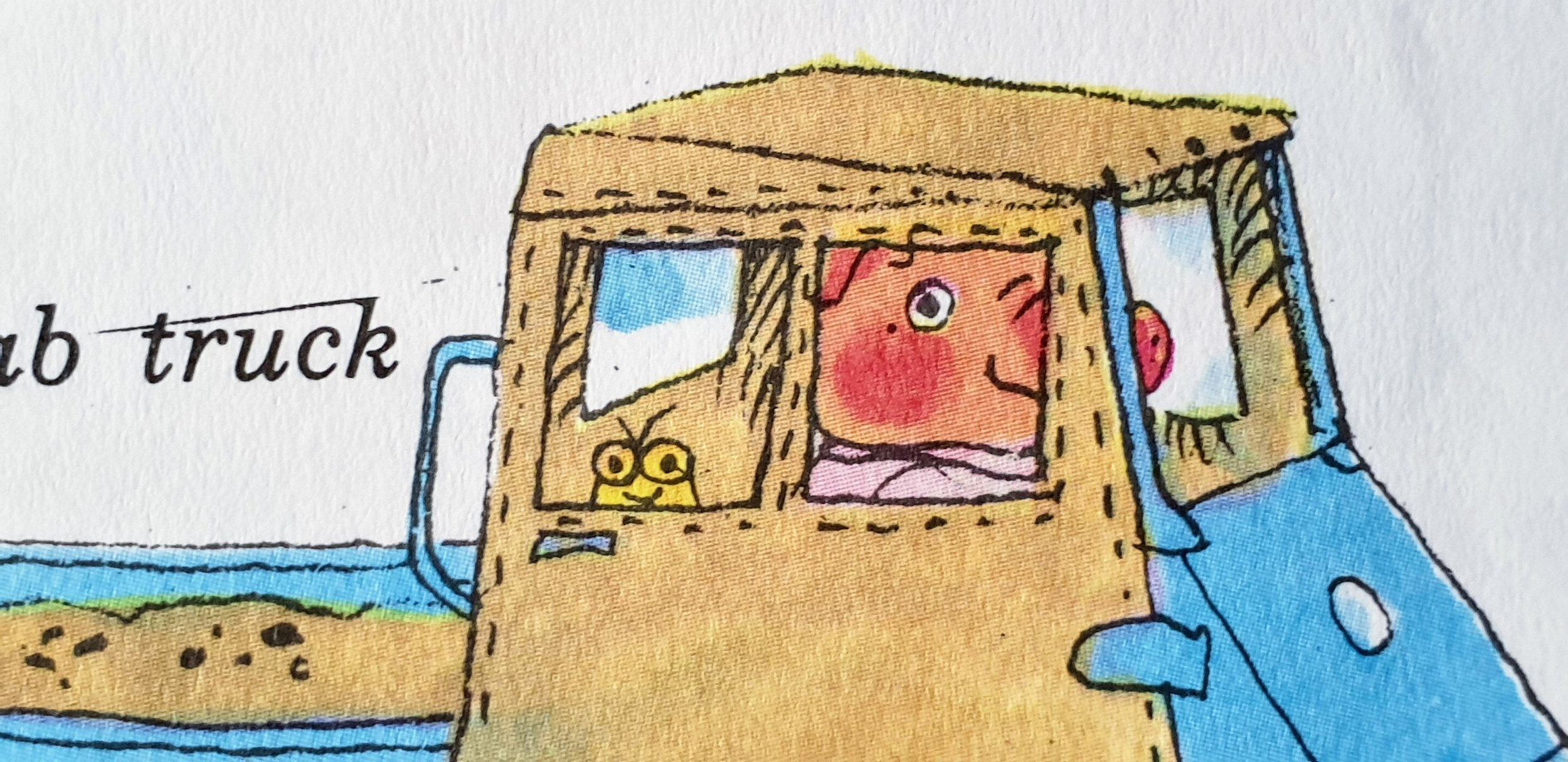 Finding Goldbug - detail from  Cars and Trucks and Things That Go  © 1974 by Richard Scarry Corporation