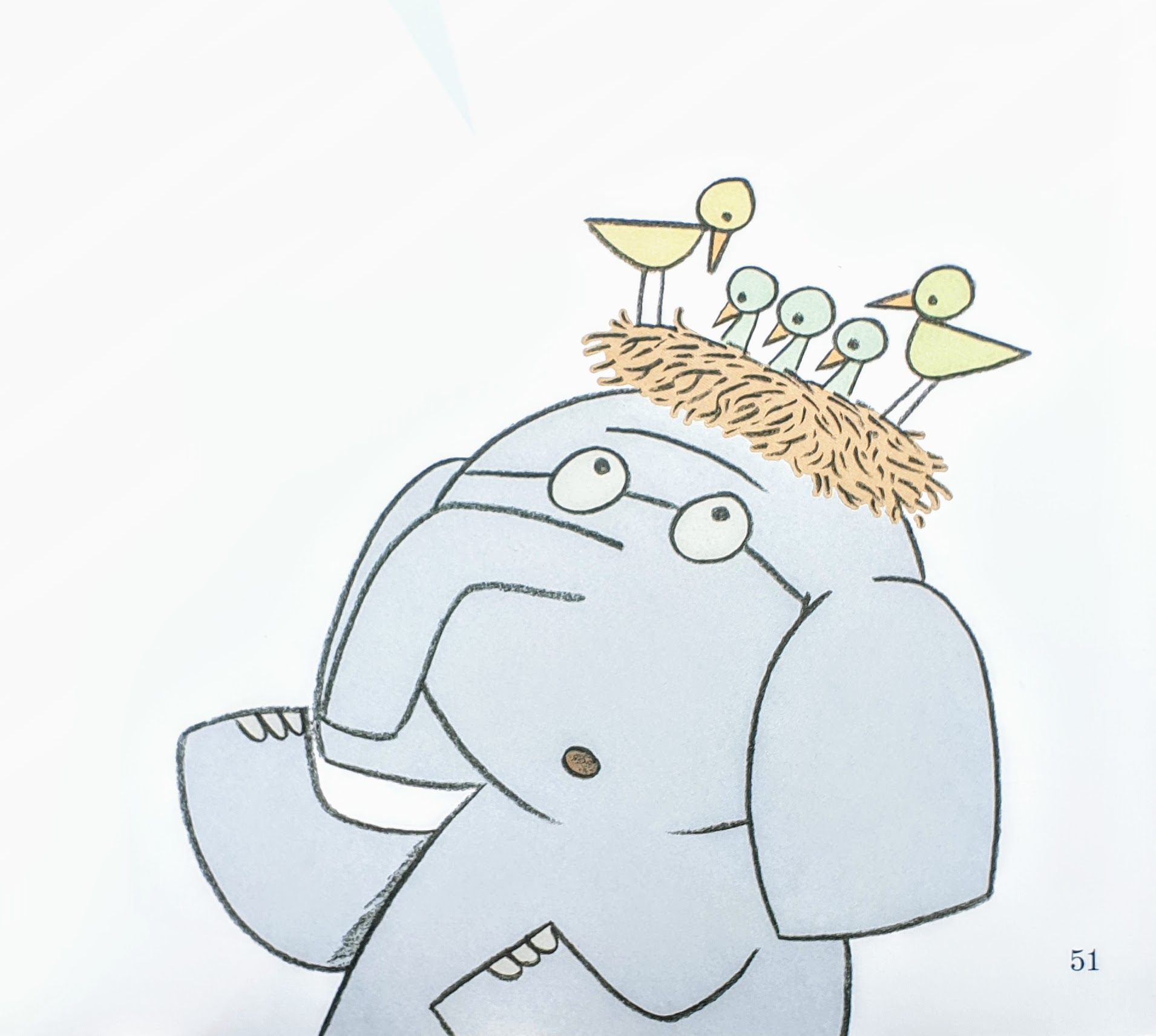 From  There Is a Bird on Your Head!  © 2007 by Mo Willems
