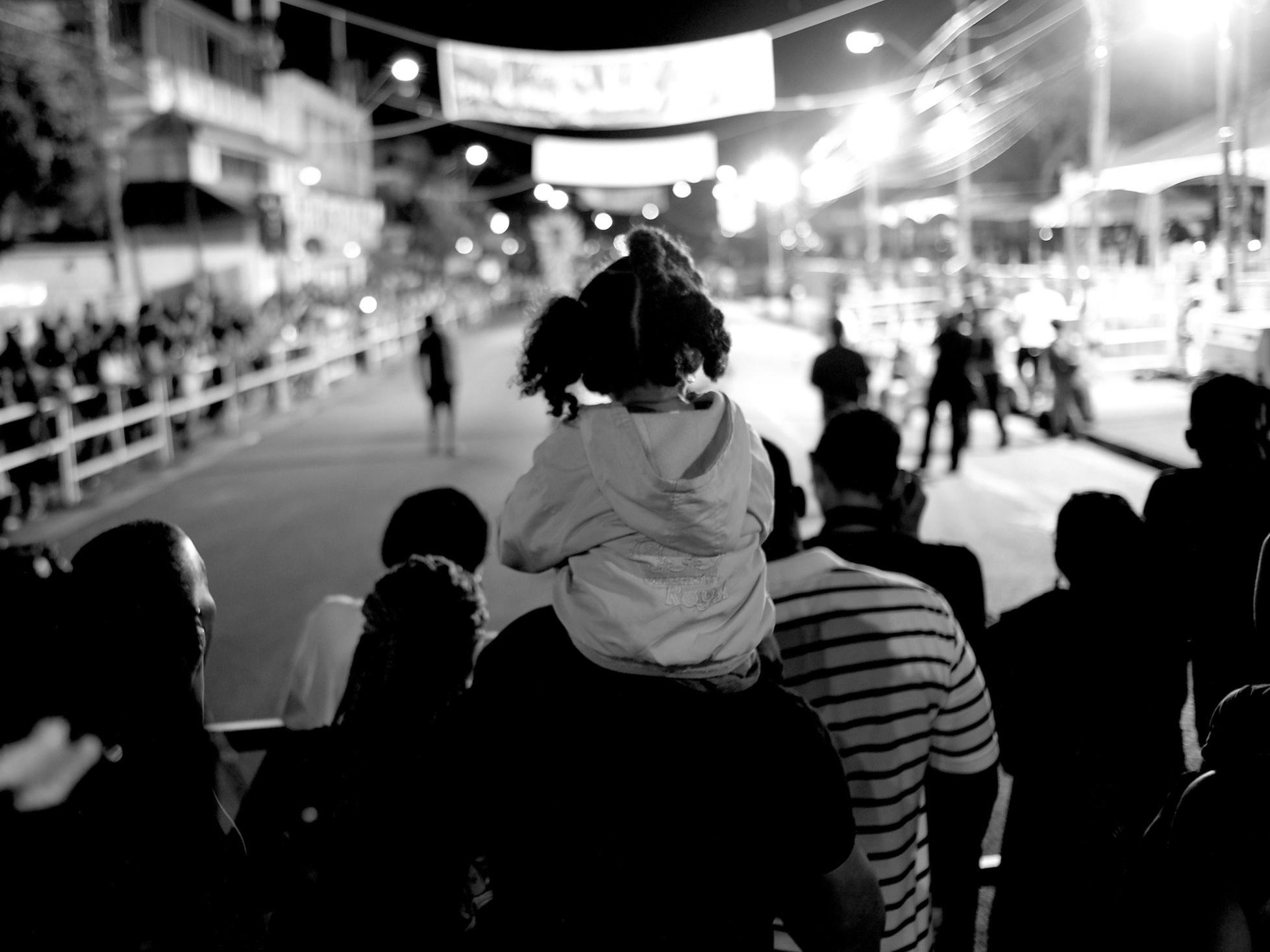 Child On Shoulders, Adam Smith Square, Trinidad 2019.