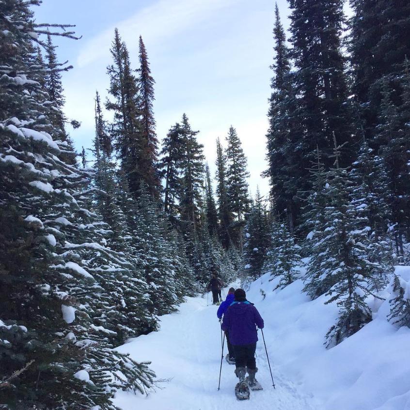 Girls Weekend Snowshoe Trip