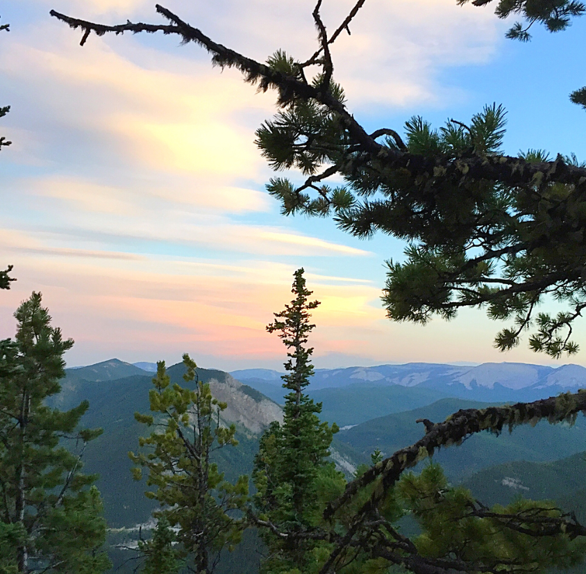 Sunset from Prairie Mountain hike